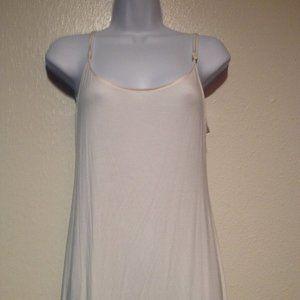 Natori White Spaghetti Strap Dress/Coverup